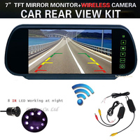 Hd 800 X 480 7 LCD Screen Car Rear View Backup Mirror Monitor Wireless Reverse 8