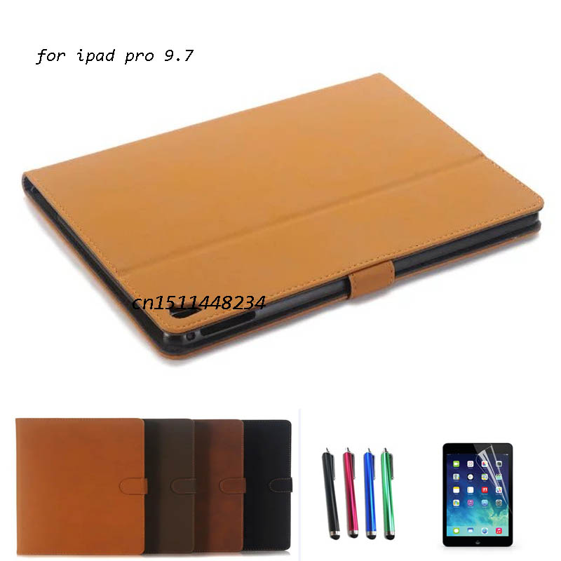 все цены на Retro Vintage Premium PU Leather Smart Cover for iPad Pro 9.7 inch 2016 Slim Book case Flip Tablet Case Auto Sleep Wake Case онлайн