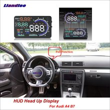 Liandlee For Audi A4 B7 2014-2018 OBD Safe Driving Screen Car HUD Head Up Display Full Function Projector Refkecting Windshield