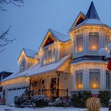 10m 320 Bulbs fairy LED curtain lights christmas string light garland wedding new year luces decorativas kerst verlichting