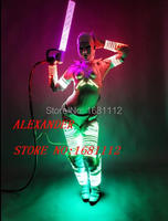 2016 new LED Costume /LED Clothing/Light suits/ LED Robot suits/ Kryoman robot/ david robot / custom white, golden robot