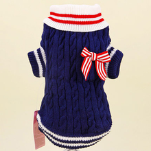 Купить с кэшбэком Warm Dog Clothes For Small Dogs Winter Coats Puppy Sweater Teddy Coat Xmas Dachshund Clothes Pull Chien Maglione Per Pets 5d0027