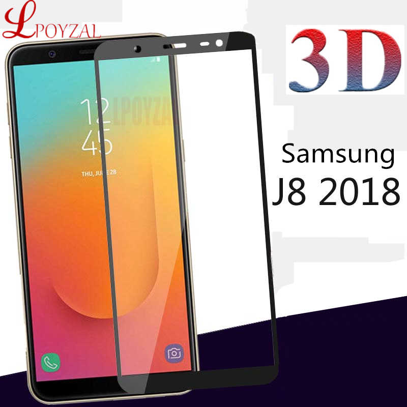 3D Full Cover Tempered Glass For Samsung Galaxy A6 A7 A8 2018 Screen Protector For Samsung J8 J6 J4 Plus J5 J7 2017 Protective