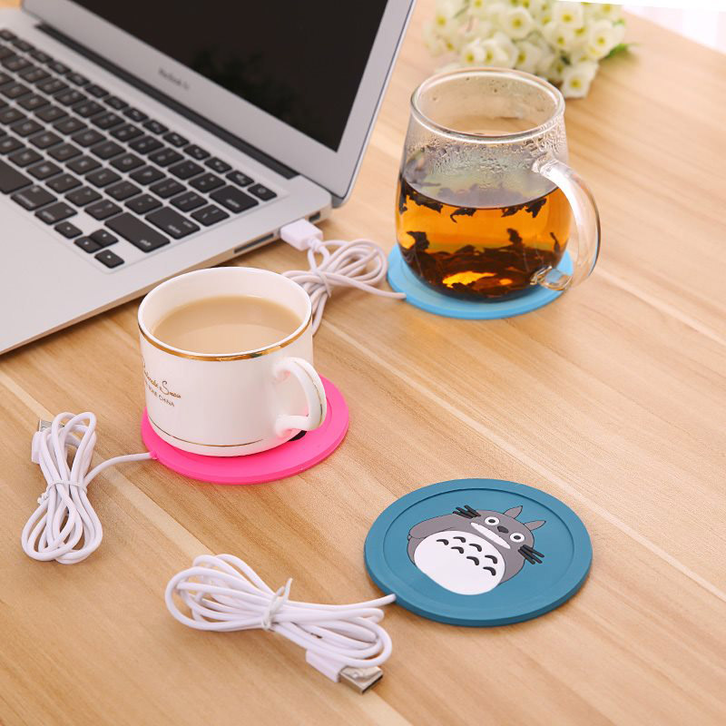 Baby Bottles Warmer Heating USB Infant Feeding Warm Cup Cute Cartoon Silicone Heater Coffee Hot Beverage Drink Coaster MBG0335