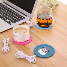 Baby Bottles Warmer Heating USB Infant Feeding Warm Cup Cute Cartoon Silicone Heater Coffee Hot Beverage Drink Coaster MBG0335(China)