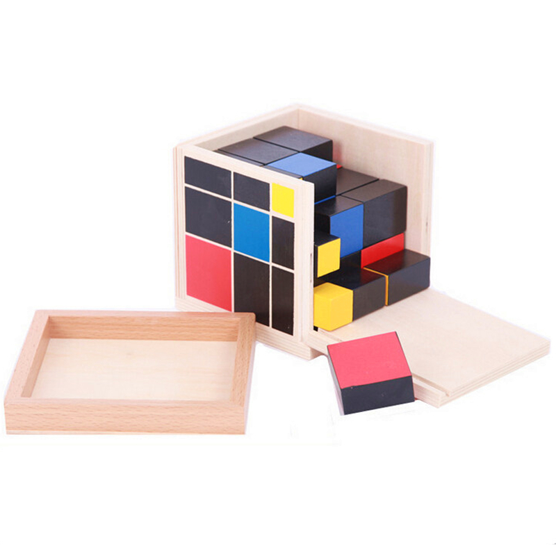 ФОТО Kids Math Toy Trinomial Cube Mathematics for Montessori Educational Toy Preschool Training Learning Toys for Children