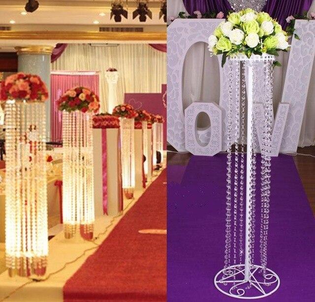 150cm 패션 고급 아크릴 크리스탈 웨딩로드 결혼식의 중심 장식 이벤트 파티 장식 / 웨딩 배경 T- 스탠드
