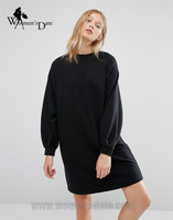 WomensDate 2016 New Autumn And Winter Velvet Thickening Fashion Loose Long Sleeve Dress Women Casual Mini