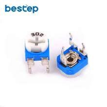 50 pçs trimmer potenciômetro RM-065 3 kohm 302 3 k trimmer resistores ajustáveis variáveis