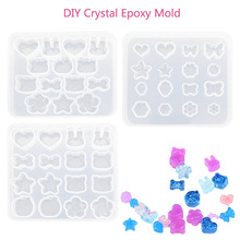 DIY Handmade gemstone jewelry making earrings ornaments mold crystal diamond shape resin mold epoxy stone mould