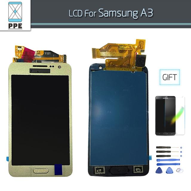 Display lcd de toque digitador da tela para samsung galaxy a3 2015 lcd completo com botão home a300 a300x a300h a3000 a300f