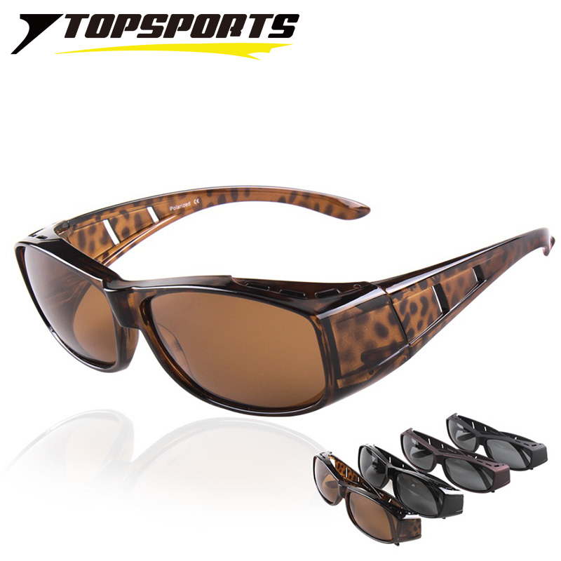 TOPSPORTS Polaroid Sunglasses Fit Over Sun Glasses UV400 protection Men Women myopia frame Eyewear for driving fishing walking