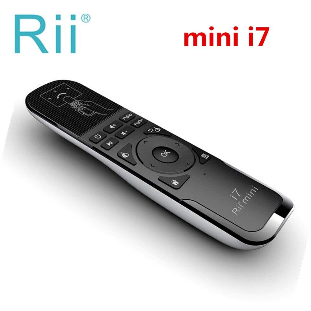 Originale Rii mini i7 2.4g tastiera Senza Fili Fly Air Mouse Da Gioco di Rilevamento del Movimento costruito in 6-Axis Telecomando di controllo per Android TVBox