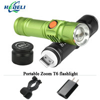 2017 New Powerful CREE XML T6 Mini USB Led Flashlight Torch Lantern Portable Light Rechargeable Lantern