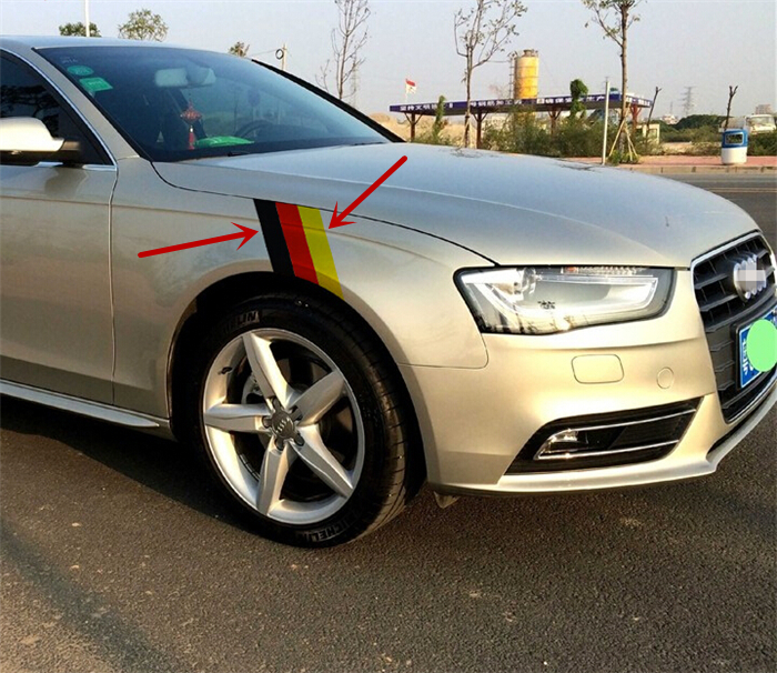 Three color vinyl decal stickers germany flag car feeder decoration sticker car styling for audi a1 a3 a4 a5 a6 q3 q5 on aliexpress com alibaba group