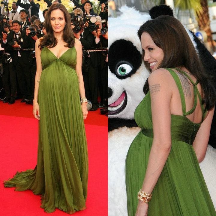Mutterschaft Angelina Jolie Elegante Abendkleider für Schwangere ...
