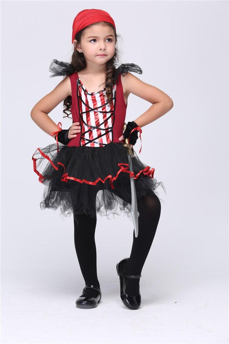 Hood Short Sleeve Costume Ball Caribbean Sea Kids Pirates Girls ...