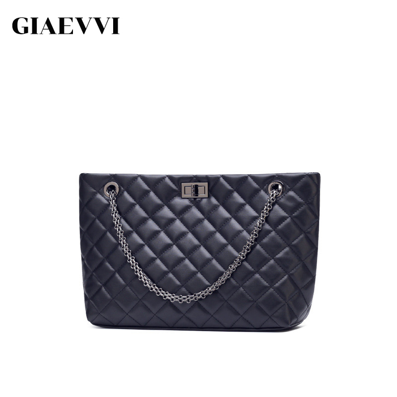 GIAEVVI Luxury Handbag Brand Women Bags Designer Split Leather Tote Bag Chain Shoulder Bags Crossbody for Lady High Capacity 2018 brand designer women messenger bags crossbody soft leather shoulder bag high quality fashion women bag luxury handbag l8 53