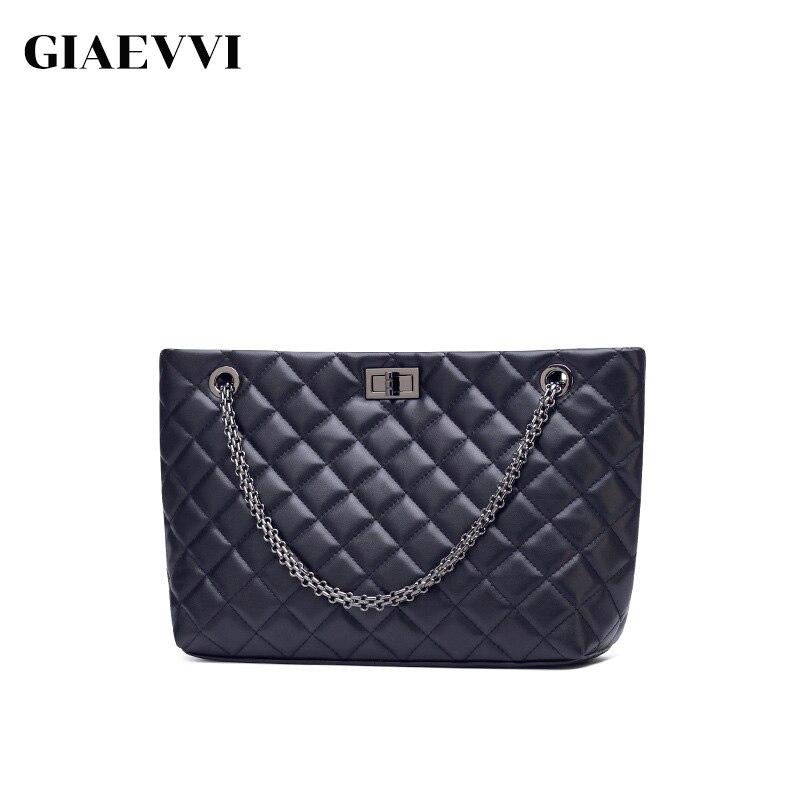 GIAEVVI sac à main de luxe marque femmes sacs Designer Split cuir sac fourre-tout chaîne sacs à bandoulière bandoulière pour dame haute capacité