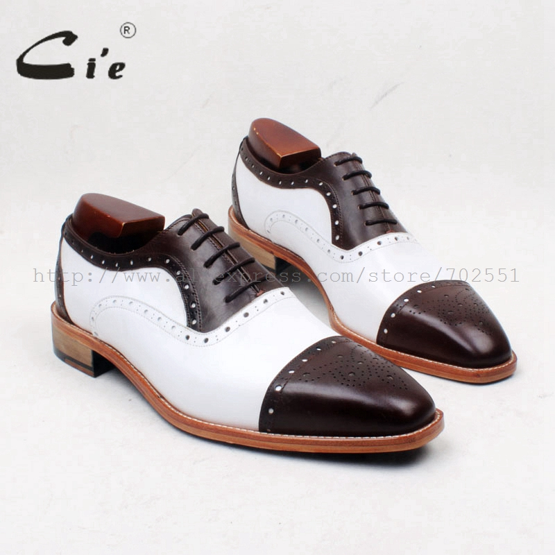 cie Square Toe Coffee Color Mix White Semi-Brogues Lace-Up Flat 100%Genuine Calf Leather Outsole Breathable Blake Men Shoe OX658 купить часы haas lt cie mfh211 zsa