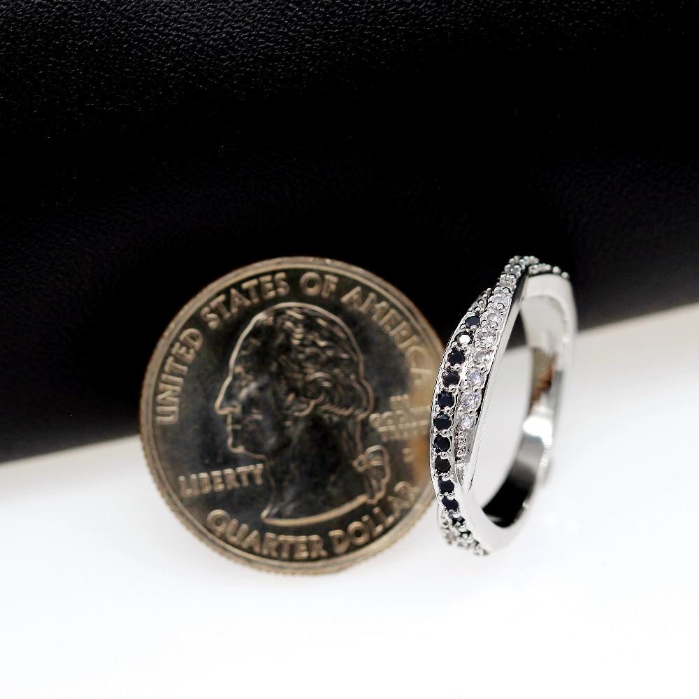 Almei μαύρο ασημένιο δαχτυλίδι χρώματος - Κοσμήματα μόδας - Φωτογραφία 5