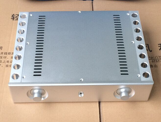 QUEENWAY Audio BZ3608C CNC Full Aluminum Case Enclosure Power Amplifier Chassis 361mm*85mm*270mm 361*85*270mm