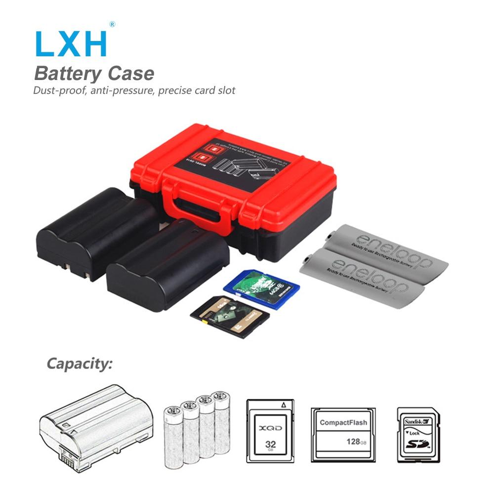 LXH Camera Battery Boxes SD CF XQD Memory Card Storage Case For Sony NP-FW50/NP-W126/NP-BX1 Nikon EN-EL14/5 Canon LP-E6/8/10 прицел nikon monarch 3 4 16x50 matte np