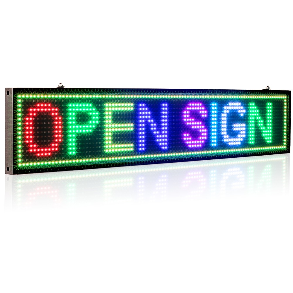 50CM P5MM RGB Led Sign Full color multicolor Programmable Scrolling Message LED Display Board Display Multi-language