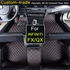 Car Floor Mats for Infiniti FX35 FX37 FX45 QX70 Foot Rugs Custom Carpets Car Styling Customized Specially Black Beige Brown
