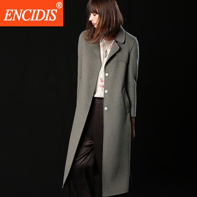 Mulheres Trench Coat europeu 2016 Novo Inverno e Outono Blusão Casaco Longo Casacos de Senhora Casacos Sólidos F172