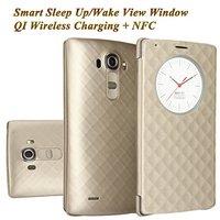 LG G4 Akıllı Hızlı Daire uyandırma/uyku görünümü penceresi Telefon IC Çip ile NFC Fonksiyonu Ile Ekli durumda Kapak Için LG G4