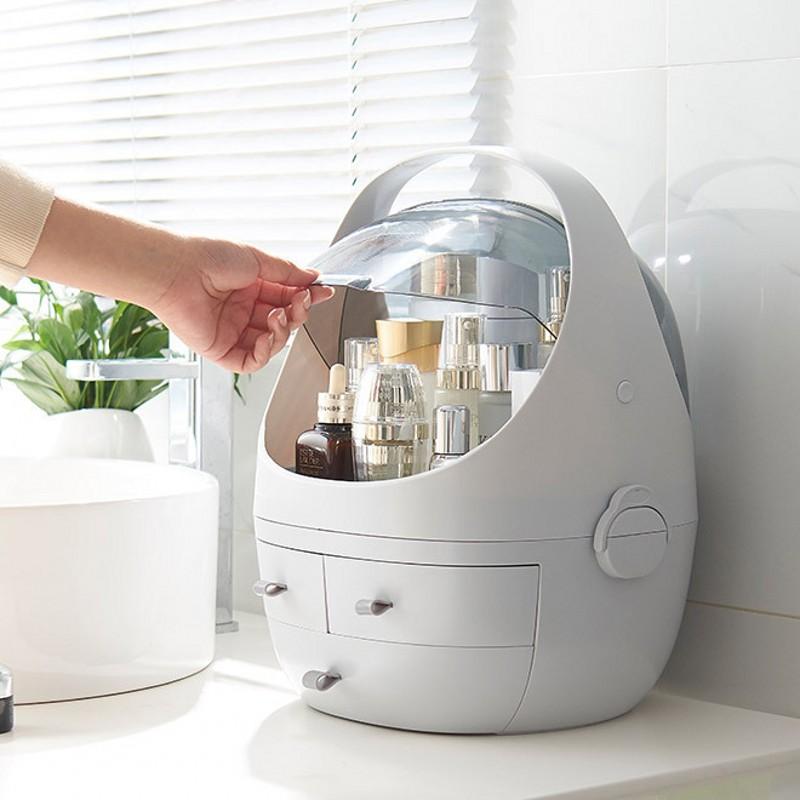 2019 Lnternet Celebrity Multi functional Plastic Woman Cosmetic case Organizer Makeup Box Travel Portable Cosmetic Storage