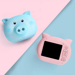 8G/16G/32G Memory Card Digital Camera 1200W Pixel 2.3 Inch HD Screen Sports HD Camera Cartoon Mini Pig SLR Toy
