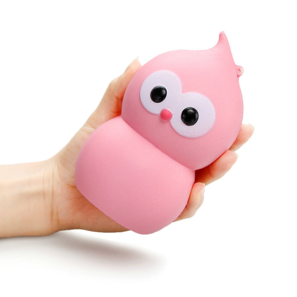 New Squishies Kawaii Stayed Owl Squishy Slow Rising Soft Squeeze Stuffed Kids Toys Mobile Phone Strap Fun Pressure Release Gift