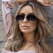 Classic Pilot Sunglasses Women Luxury Brand Designer Glasses Elegant Mirror Avia