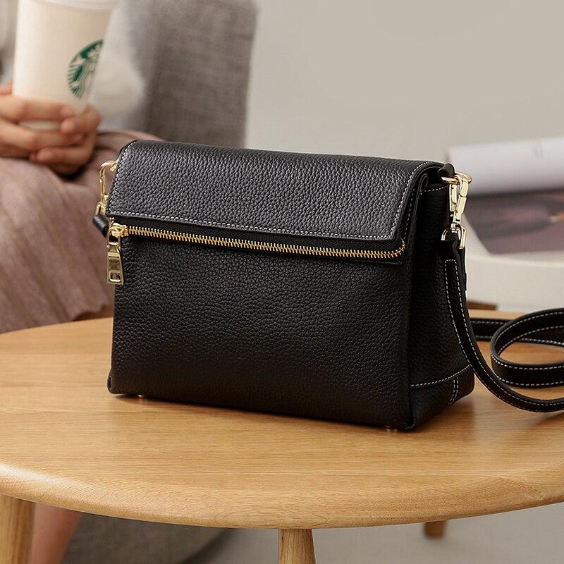 Mode Black Wb671 green Fold En Woonam Zip Épaule Veau Femmes Nouvelle Véritable Moyen burgundy Fermeture Satchel camel Cuir Sac q6xHEZ