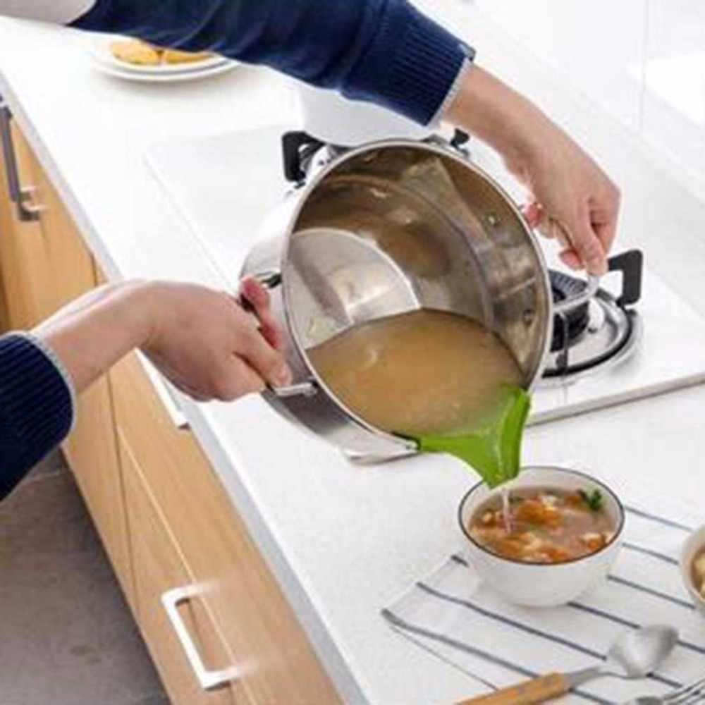 Kreatif Anti-Tumpahan Silikon Slip Di Tuangkan Sup Moncong Corong untuk Pot Panci dan Mangkok dan Guci Dapur Gadget alat
