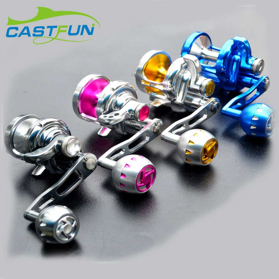 Castfun 9BB+2RB Trolling Reel Slow Jigging Trolling Aluminium Alloy Full Metal Reel Boat Wheel Boat Fishing Drum 1 65m 1 8m high carbon jigging rod 150 250g boat trolling fishing rod big game rods full metal reel seat sic guides eva handle
