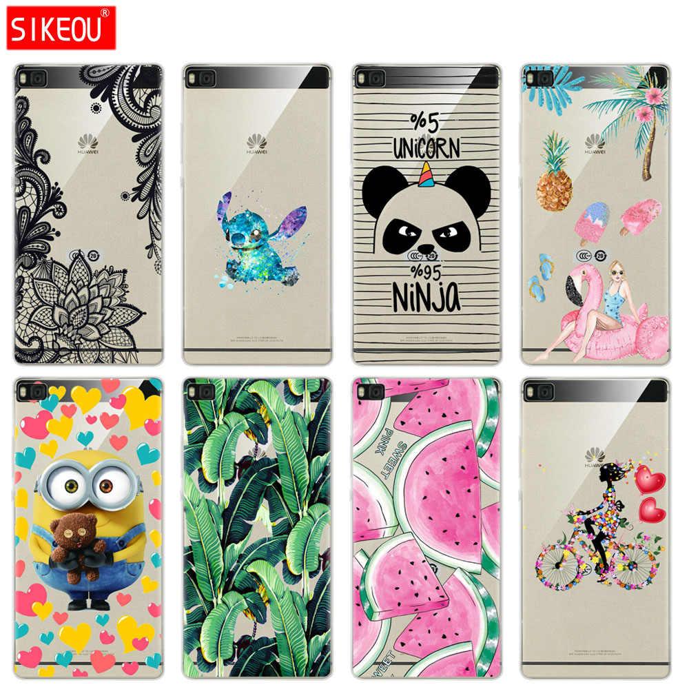 Case For P8 lite case Cute cartoon cover for fundas Huawei P8 lite ...