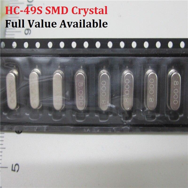 SMD Passive Crystal Oscillator 3.579545/4 6/7.3728/8 10/12/16/18.432/20/22.1184/24/25/26/27/27.12/11.0592/12/13.56/14.7456/M/MHZ