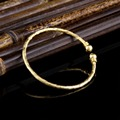 Top Quality Pretty Lady Gold Bangle Lover Bracelet Jewelry Algeria Fiji Metal Bracelet bangles