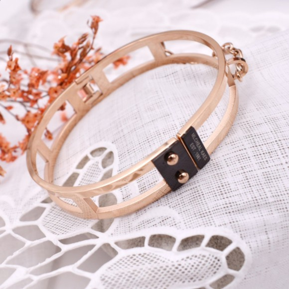 2018 HOT European Fashion Jewellery Titanium steel Rose gold Women bracelet Crystal from Swarovski Fit DW for female Party