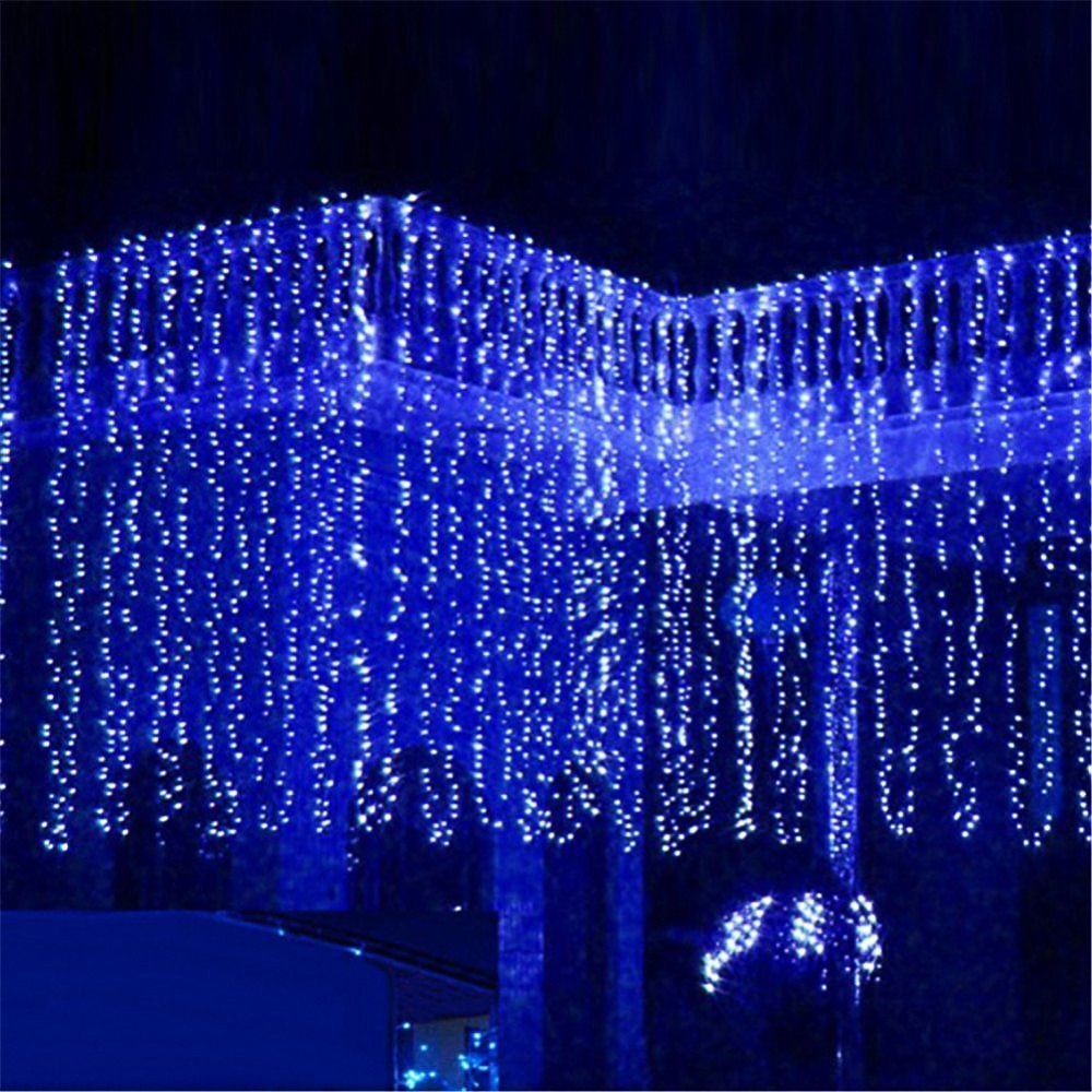 10 * 4m 1280 Bulbs Garland LED Curtain Christmas String Lights icicle Holiday Party Wedding LED Lights Decoration window curtain led string white lights 3m x3m for xmas wedding party decor 220v eu plug party decorations 304 led