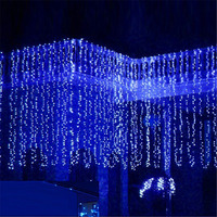 10*4 м 1280 лампочек гирлянды светодиодный Шторы Рождество строка сосулька для отдыха и вечеринок Свадебные светодиодный огни украшения