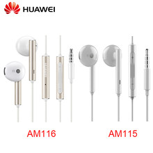 Huawei Earphone with Microphone Volume Wire Control Metal headset for HUAWEI P7 P8 P9 Lite P10 Plus Honor 5X 6X Mate AM115/AM116(China)