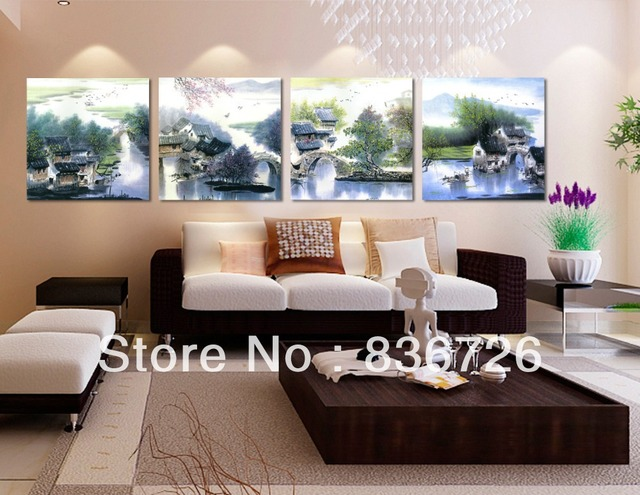 office wall paintings. chinese landscape painting colorful art paintings for living room wall modern office