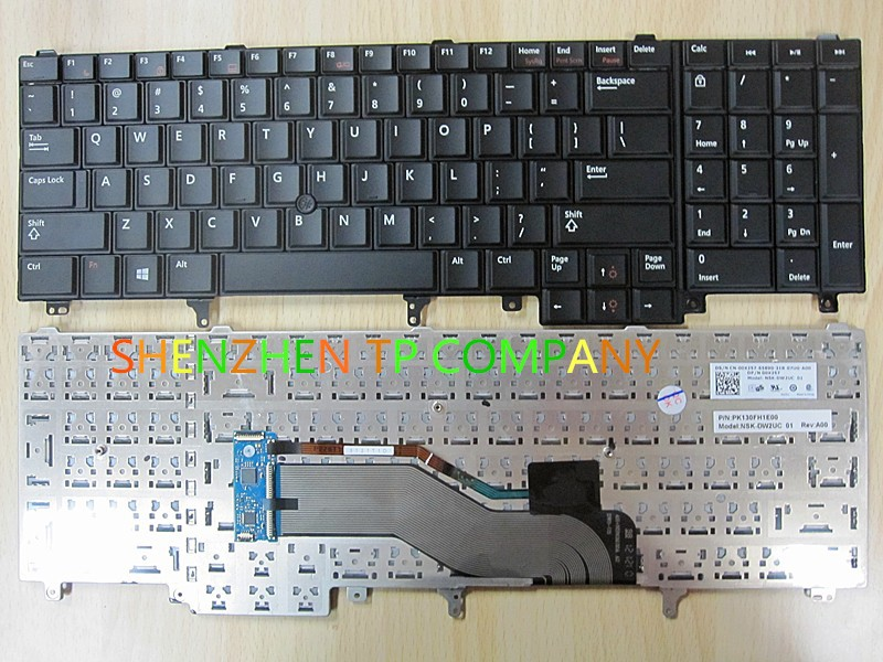 laptop keyboard  For Dell  Precision M4600 M4700 M6600 M6700 with Point sticker without Blackilt US versionlaptop keyboard  For Dell  Precision M4600 M4700 M6600 M6700 with Point sticker without Blackilt US version