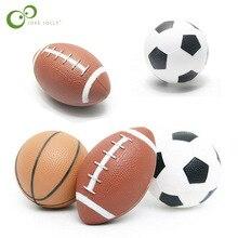 Al aire libre juego chico juguete suave de goma Rugby baloncesto fútbol  deporte de los niños Bola de juguetes para los niños WYQ 124a9dbc5337b