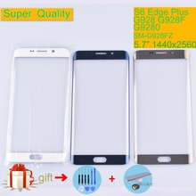 Original For Samsung Galaxy S6 Edge Plus G928 G928F Touch Screen Front Glass Panel Edge+ Outer Lens