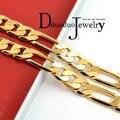 Бесплатная доставка реальный мужская 24 К позолоченные ожерелье цепь мода свадебные украшения 6 мм * 50 см